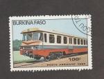 Stamps Burkina Faso -  Vagón tren