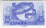 Stamps : Europe : Spain :  75 ANIV. DE LA U.P.U(42)