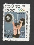 Stamps Laos -  J.O.Los Angeles 84
