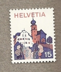 Stamps Europe - Switzerland -  Iglesia barroca