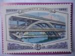 Stamps : Europe : Russia :  URSS- Unión Soviética- Metro - Puente Metro (Luzhniki)