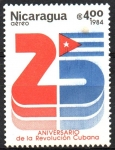 Sellos del Mundo : America : Nicaragua :  25th  ANIVERSARIO  DE  LA  REVOLUCIÓN  CUBANA