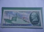 "Stamps : Europe : Russia :  URSS-Unión Soviética-Buque ""Akadémik Nistislav Keldysh"" - Flota Científica de asenso de la URSS."