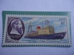 "Stamps : Europe : Russia :  URSS-Unión Soviética-Buque ""Otto Schmidt"" - Flota Científica de asenso de la URSS."