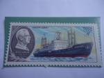 """Stamps : Europe : Russia :  URSS-Unión Soviética-Buque """"Otto Mikhailsomov"""" - Flota Científica de asenso de la URSS."""
