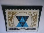 Stamps : Europe : Russia :  URSS-Unión Soviética -Emblema del 7° Congreso de Cristalografía, 1966.