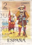 Stamps : Europe : Spain :  ARCABUCERO(42)
