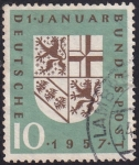Stamps : Europe : Germany :  1 de enero de 1957