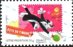 Stamps France -  DÍA  DEL  SELLO.  PIOLÍN  Y  SILVESTRE.