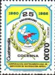 Stamps Guatemala -  25th  ANIVERSARIO  DE  COCESNA
