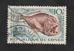 Stamps : Africa : Republic_of_the_Congo :  147 - Caulolepis longidens