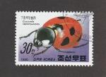Sellos de Asia - Corea del sur -  Mariquita san Antón