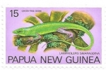 Stamps Oceania - Papua New Guinea -  reptiles