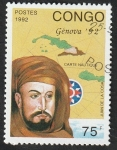 Stamps : Africa : Republic_of_the_Congo :  953 - Juan de la Cosa,navegante