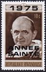Stamps : Africa : Rwanda :  Papa Pablo VI