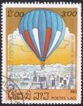 Stamps Laos -  globo