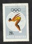 Stamps Romania -  2401 - Olimpiadas Mexico 68, natación