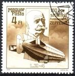 Sellos de Europa - Hungría -  CONDE  FERNANDO  von  ZEPPELIN  (1838-1917)  DISEÑADOR  DE  DIRIGIBLES