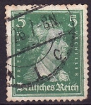 Stamps Germany -  Fiedrich Von Shiller