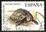 Sellos de Europa - España -  Fauna hispanica - Tortuga Terrestre