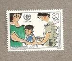 Sellos del Mundo : Asia : Macao : 40 Aniversario de la OMS