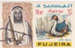 Stamps United Arab Emirates -  SOLDADO Y ANADE
