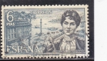 Stamps Spain -  ROSALIA DE CASTRO (42)