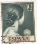 Sellos del Mundo : Europa : España : VIVA EL PELO (Romero de Torres) (42)