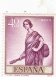 Stamps Spain -  LA COPLA (Romero de Torres)(42)