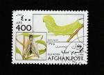 Stamps Afghanistan -  gusano de seda