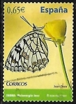 Stamps : Europe : Spain :  Fauna - Melanargia ines