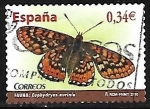 Stamps Europe - Spain -  Fauna - Euphydryas aurinia