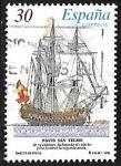 Sellos de Europa - España -  Barcos de Época - Navío San Telmo        San Telmo