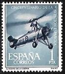 Stamps Europe - Spain -  Cinquentenario de la Aviación Española