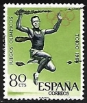 Stamps Europe - Spain -  Juegos Olimpicos -Tokio 1964 - Salto en longitud