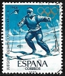 Stamps Europe - Spain -  Juegos Olimpicos -Tokio 1964 - Esqui