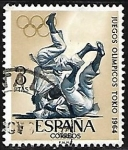 Stamps Europe - Spain -  Juegos Olimpicos -Tokio 1964 - Judo