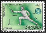 Stamps Europe - Spain -  Olimpiadas de Munich 1972 - Esgrima