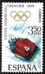 Stamps Europe - Spain -  Juegos Olímpicos de Invierno - Grenoble 1968- Trineos