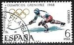 Stamps Europe - Spain -  Juegos Olímpicos de Invierno - Grenoble 1968- Joquei