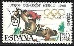 Stamps Europe - Spain -  Juegos Olímpicos de Mexico 1968 - Salto de Caballo