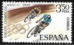 Stamps Europe - Spain -  Juegos Olímpicos de Mexico 1968 - Ciclismo