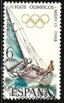 Stamps Europe - Spain -  Juegos Olímpicos de Mexico 1968 - Vela