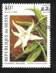 Sellos de Africa - Benin -  Orquídeas Africanas