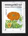 Sellos de Asia - Camboya -  Flores