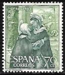 Stamps : Europe : Spain :  Misterios del Sto. Rosario - La anunciacion Correa