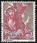 Sellos del Mundo : Europa : España :  Misterios del Sto. Rosario - Cargando la Cruz - El Greco