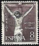 Stamps : Europe : Spain :  Misterios del Sto. Rosario - La Crucificion - Murillo