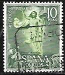Stamps : Europe : Spain :  Misterios del Sto. Rosario - La Resurrección - Murillo