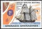 Stamps : America : Grenada :  200ºrevolución americana